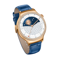 HUAWEI Smart Watch (Ladies) W1 - Swarovsky– Rose Gold Case Blue Leather Band