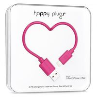 Happy Plugs Lightning charge/sync cable, Cerise