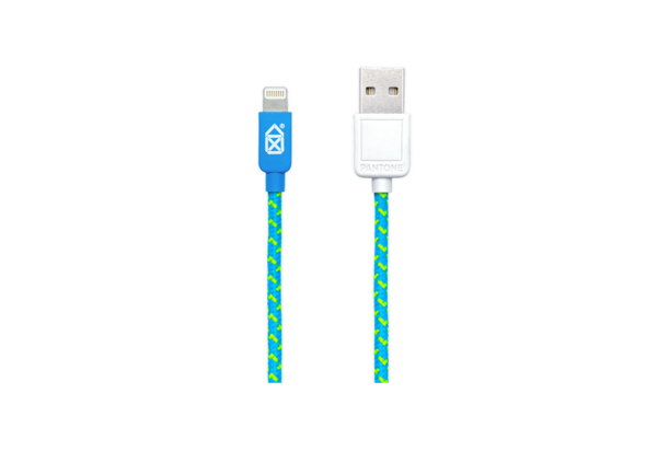 Case Scenario Pantone Universe 2M/6.5? Lightning Cable, Blue & Green Fabric