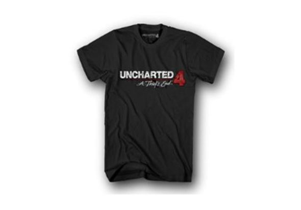 Uncharted 4 JR Logo T-shirt Black (L)