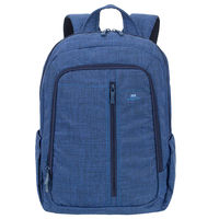 "Riva Case 7560 Laptop Canvas Backpack 15.6"" , Blue"