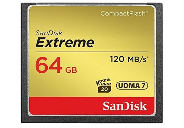 SanDisk Extreme Compact Flash UDMA7 Memory Card up to 120 MB/s Read 64 GB