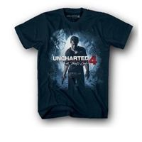 Uncharted 4 JR Cover T-shirt Navy classic Drake black (S)