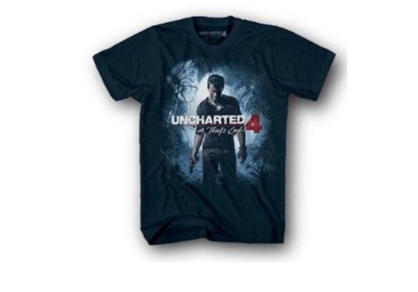Uncharted 4 JR Cover T-shirt Navy classic Drake black (2XL)
