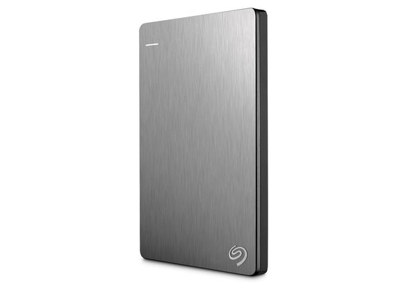 Seagate Backup Plus Slim 500GB USB 3.0 portable 2.5 inch external hard drive, Silver