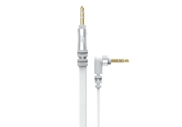 Scosche Flat Out 3 Ft. Flat Audio Cable, White