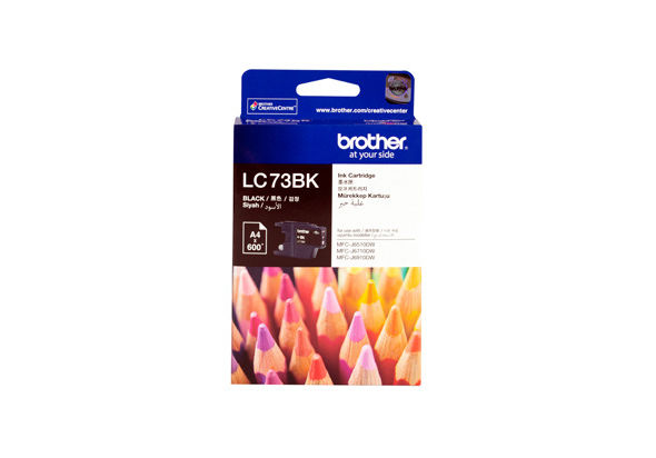 Brother LC-73BK Black Ink - Standard yield: 600pgs Black