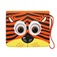 "TabZoo App Folio Case Cover with Built-In Stand for 10-11"" Tablets, Tiger"