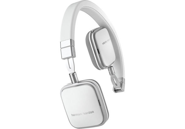 Harman Kardon Soho Lie-Flat On-Ear Mini Android Headphones, White