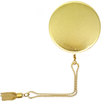 Mirror PB2500Mah powerbank metallic gold with gold chain