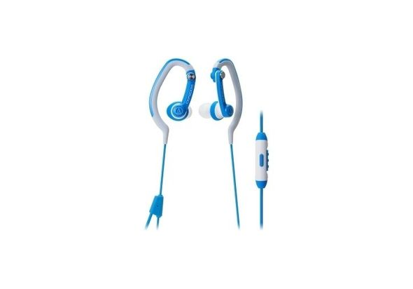 Audio Technica ATH-CKP200ISBL SonicSport In-Ear Headphones for Smartphones Blue