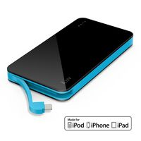 iLuv Compact Protable 5000Mah Power Bank With Integrated Lighting Cable