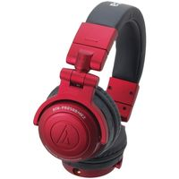 Audio Technica ATH-PRO500MK2RD Rugged Design DJ Headphone Red
