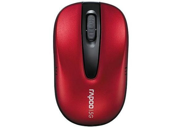 Rapoo 1070P Wireless Optical Mouse, Red