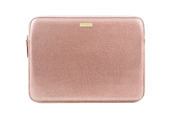 Kate Spade New York Glitter Sleeve for 13  Apple MacBook, Rose Gold
