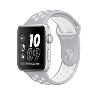 Apple Watch Nike+ Silver Aluminum Case with Flat Silver/White Nike Sport Band
