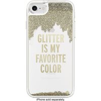 Kate Spade new york Clear Liquid Glitter Case for Apple iPhone 7, Gold/Glitter is My Favorite Color