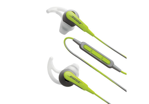 Bose SoundSport In-ear Headphones, Green and Gray