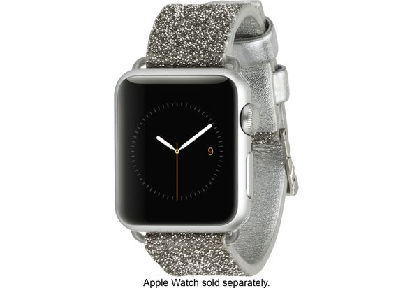 Case-Mate Brilliance Smartwatch Band for Apple Watch 38mm, Silver