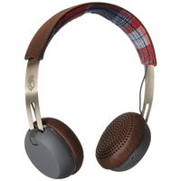 Skullcandy Grind On-Ear Headphone with Taptech Playback Remote, Americana/Plaid/Grey/Brown