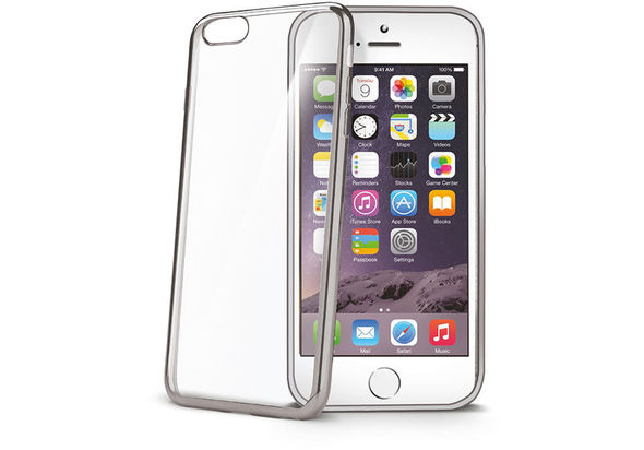 Celly BCLIP6SPSV Bumper Cover for Apple iPhone 6s Plus, Silver