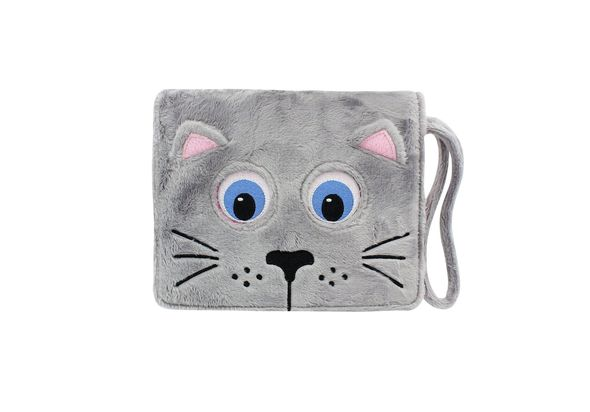 TabZoo App Folio Case Cover with Built-In Stand for 7-8  Tablets, Cat