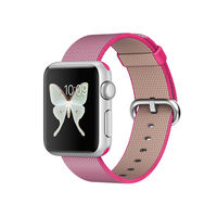 Apple Watch 38mm Silver Aluminum Case Pink Nylon