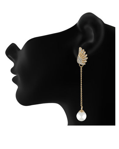 One Stop Fashion Designer and Latest Two different Gold Plated Alloy Earrings for Girls & Women