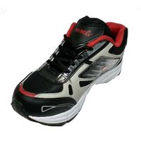 VoMax Men's Synthetic Sports shoes, 9, black & red