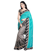 Rama Bhagalpuri Printed Saree With Blouse Piece