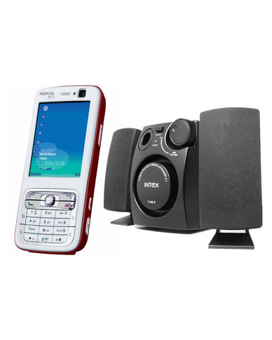 Buy Nokia N73 Mobile and Intex 2.1 Channel Speaker