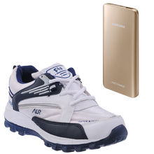 Buy Finley Running Shoes with Samsung/Mi 25000mAh Powerbank in just Rs. 70, white, 9