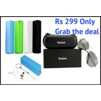 Reebok Classic Black Sunglasses with 2600mAh power bank free