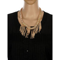 One Stop Fashion Trendy and Smart Gold Colour Alloy Neckpiece for Girls & Women, 50, gold