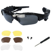 Buy Wireless Music Sunglasses with Stereo Handsfree, Black, black