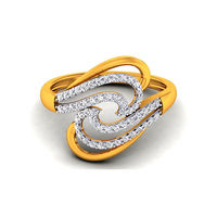 Diamond Ring In 18Kt Yellow Gold (3.9 gms) with Diamonds (0.39 Ct SI-GH)