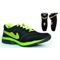 Buy Online Combo Of Stylish Sports Shoes With Free Shaver, black, 10