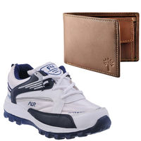Buy Finley Running Shoes with Woodland Wallet in just Rs. 70, white, 9
