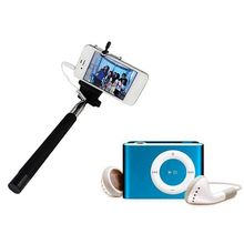 RR Selfie Stick and MP3 Player, free size, multicolor, 0.5