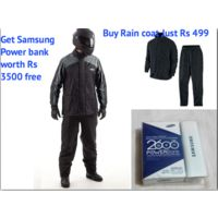 Urbanlifestylers Rain Suit With Carry Bag Raincoat with Samsung 2600mAh power bank