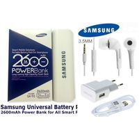 Samsung Power Bank+ Samsung Ear Phone+ Samsung Charger Combo of 3