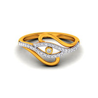 Diamond Ring In 18Kt Yellow Gold (2.96 gms) with Diamonds (0.25 Ct SI-GH)