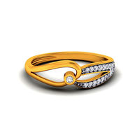 Diamond Ring In 18Kt Yellow Gold (3.4 gms) with Diamonds (0.13 Ct SI-GH)
