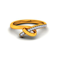 Diamond Ring In 18Kt Yellow Gold (2.8 gms) with Diamonds (0.09 Ct SI-GH)