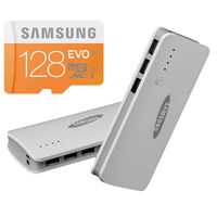 Buy Samsung Evo 128GB Memory Card With Samsung 16800mAh power bank in Just Rs. 999
