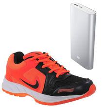 Buy Finley Running Shoes with Samsung/Mi 20800mAh Powerbank in just Rs. 70, orange, 6