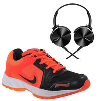 Buy Finley Running Shoes with Sony Ear Headphone in just Rs. 70, orange, 10