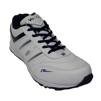 VoMax Men's Synthetic Sports shoes, 8, white & navy blue