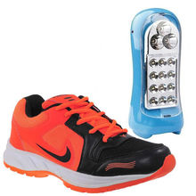 Buy Finley Running Shoes with DP LED Super Capacity Light in just Rs. 70, orange, 6