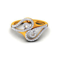 Diamond Ring In 18Kt Yellow Gold (3.8 gms) with Diamonds (0.46 Ct SI-GH)